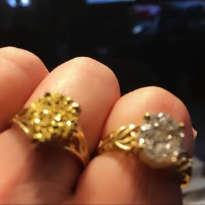 Jewelry - Two 10k gold rings both size 8